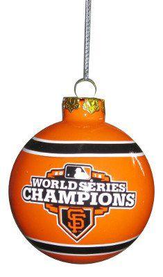 San Francisco Giants 2012 World Series Champions Glass Ball Christmas Ornament