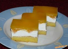 Mandarinkové řezy Czech Recipes, Cheesecake, Food And Drink, Dairy, Sweets, Baking, Cakes, Cheesecake Cake, Sweet Pastries