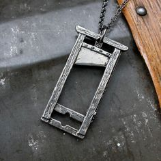 French Guillotine Pendant Necklace in Solid White Bronze, made by my favorite jeweller, Mr mrd74  I absolutely want it !!! ♥