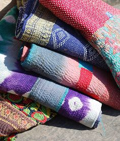 Home & Garden Initiative Indian Kantha Quilt Handmade Gypsy Blanket Vintage Ralli Kantha Boho Blanket Selling Well All Over The World Quilts, Bedspreads & Coverlets
