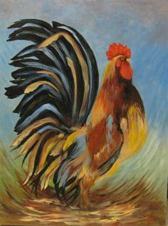 Pumpkin Canvas Painting, Rooster Painting, Rooster Art, Chicken Signs, Chicken Art, Ceramic Chicken, Chicken Pictures, Chicken Images, Mexican Art Tattoos