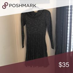 Gray Sweater Dress Gray sweater dress, new and never aorn, super cute, comfy and cozy! Max Studio Dresses Long Sleeve