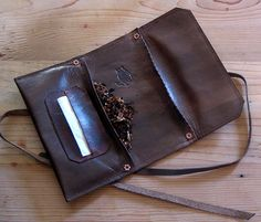 Leather Tobacco Pouch by SorringowlandSons on Etsy