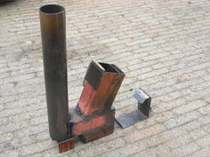 Rocket stove (heater) on steroids part 1   #2 video  https://www.youtube.com/user/emc4u2/videos
