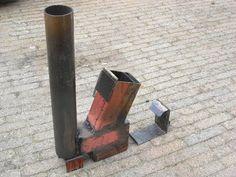 Rocket stove (heater) on steroids part 1   #2 video  https://www.youtube.com/user/emc4u2/videos