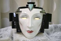 An Art Deco Face Lamp! 1920's Glam!