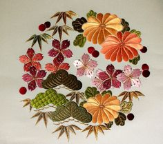 Japanese Embroidery - My 86-year old mother still does this and it is so beautiful!