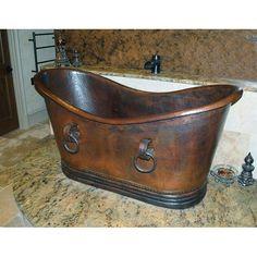 Sierra Copper Essex 66 Inch Tub with Rings