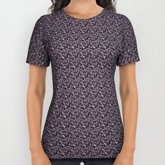 #tshirt #pattern #purple #trend #fashion #2018 #wearart #bloom #discount #society6 #style Our All-Over Print Shirts are 100% polyester, which wicks moisture and maintains a rich color quality. Each is meticulously designed by the Artist to ensure the artwork is perfectly laid out.      - Unisex sizing (women should choose one size smaller)   - 100% polyester with moisture-wicking qualities   - Produced by a sublimation process that may leave small portions of the fabric white