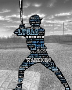 Custom Typography for the Athlete in Your Life via Etsy Baseball Crafts, Sports Baseball, Softball, Baseball Stuff, Basketball Room, Sports Mom, Silhouette Cameo Projects, Typography Poster, Athlete