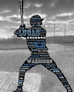 Custom Baseball Typography Poster Art (SAMPLE LISTING)