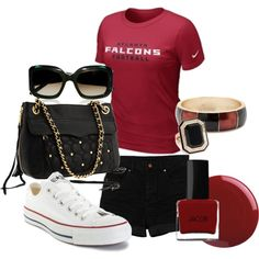 Falcons Gameday outfit from @joslynpriddy on Polyvore