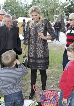Queen Maxima of the Netherlands and NATAN Leopard Print Dress