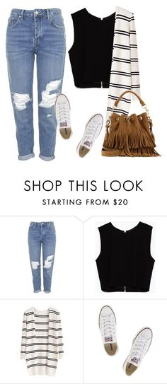 """Untitled #56"" by nvpolous ❤ liked on Polyvore featuring Topshop, Zara, Converse and Yves Saint Laurent"