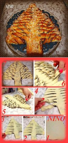 Braided Nutella Christmas Tree Bread – although personally I would omit the Nutella...
