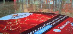 Sinalização de piso e teto,adesivo vinil 3m