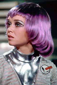 """A look at Gabrielle Drake as moonbase maiden Lt. Gay Ellis in the classic Gerry Anderson series """"UFO. Film Science Fiction, Fiction Movies, Pin Up, Past Life Memories, Ufo Tv Series, Space Girl, Space Age, Sci Fi Comics, Barbarella"""