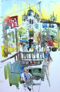 Last Sketch, Metro near La Placa. Barcelona | by suhita1