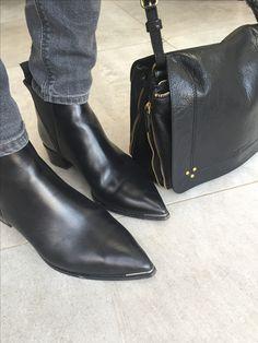 Acne Jensen boots Jerome Dreyfuss Igor bag