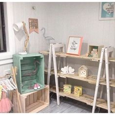 Our A-frames & crates in this gorgeous @_bubbleslane nursery. If you have beautiful bubbas then check out their page. #recycle #recycled #recycledfurniture #pallets #pallet #palletfurniture #aframes #crates