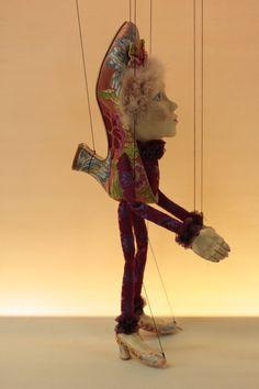 marionette Shoe marioneta puppet ooak por Etceteramarionetas