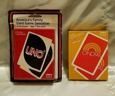 Vintage card games 1983! Uno and Uno99 set. Classic! 7 years to Adult