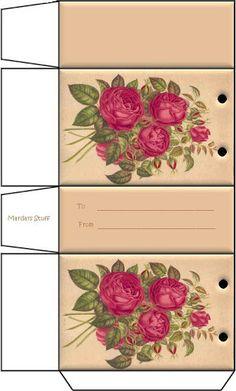 mini printable - roses gift bag