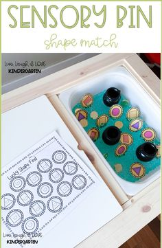 Pick a shape and record on your recording sheet. Sensory Activities Toddlers, Spring Activities, Free Activities, Sensory Bins, Sensory Play, Sensory Table, Sensory Bottles, Preschool Tables, Free Preschool
