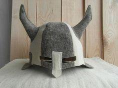 Felted Cap Felt Hat for Russian Sauna Viking Helmet by ingryda123