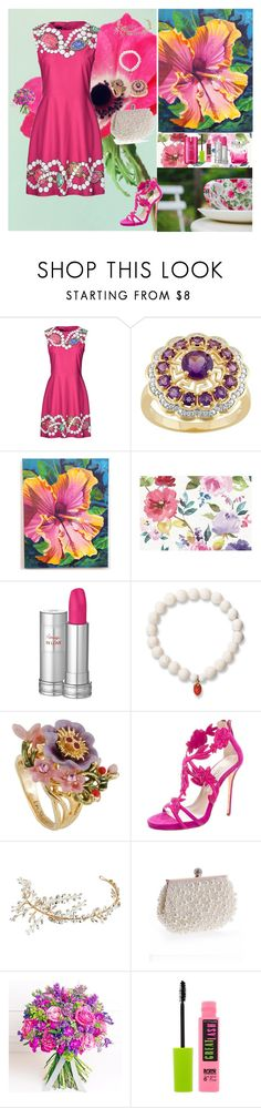 """Lady Style❤️️"" by oksana-kolesnyk ❤ liked on Polyvore featuring Boutique Moschino, Jimmy Choo, Lancôme, Love Is, Les Néréides, Oscar de la Renta, Nina, WithChic, Philippa Craddock and Maybelline"