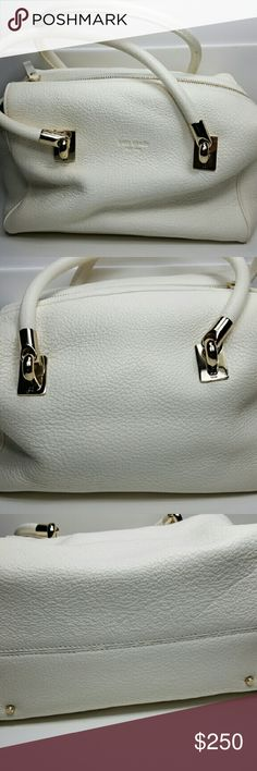 New!!! Winter White, Kate Spade Small Alyssa Bag Beautiful, never used still has tag, card, stuffing and dust bag. Would make a fabulous Christmas gift.  A little wrinkled because of storage.  Retail price $395.00 kate spade Bags