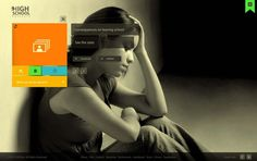 HighSchool Dropouts / Ui design & site navigation by Martín Liveratore, via Behance
