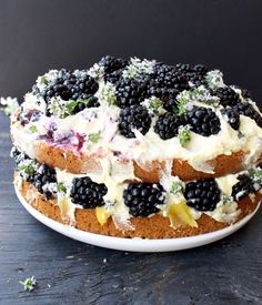 Italian Lemon Olive Oil Cake Recipe with Berries, Mascarpone and Lemon Curd