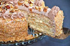 """Squirrel Cake"" with nuts or Торт ""Белочка"" с орехами"