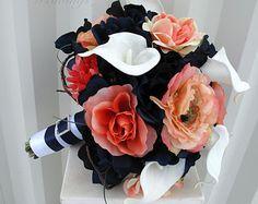 Bouquet de mariée prune et blanc bouquet de demoiselle