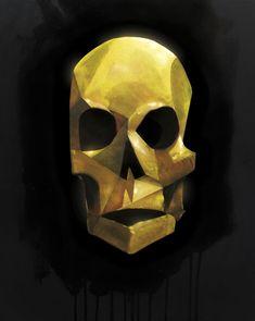 Calavera dorada. Óleo sobre lienzo y edición digital (2013). Golden Skull. Oil on canvas and digital edition (2013). #arte #art #pintura #painting #dibujo #drawing #ilustracion #illustration #diseño #design #diseñografico #graphicdesign #sketch #sketchbook #doodle #calavera #skull #golden