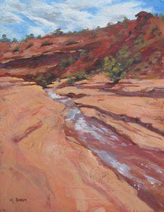 """NJ Busse Fine Art-Original Colorado Landscape Painting """"Bangs Canyon"""" by Colorado Artist Nancee Jean Busse"""
