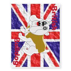 #British #Bulldog Union Jack #Flag Temporary #Tattoos