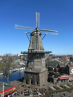 Windmill 'de Gooyer'' in Amsterdam. Windmills In Amsterdam, Holland Windmills, Old Windmills, Amsterdam City, Amsterdam Holland, Throughout The World, Around The Worlds, Tilting At Windmills, Long Car Rides