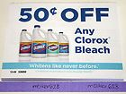(10) $.50/1 Any Clorox Bleach, 8/31/13 Coupons - .50/1, 8/31/13, BLEACH, CLOROX, COUPONS