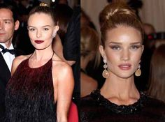 High buns from Kate Bosworth and Rosie Huntington-Whiteley at the 2012 Met Gala