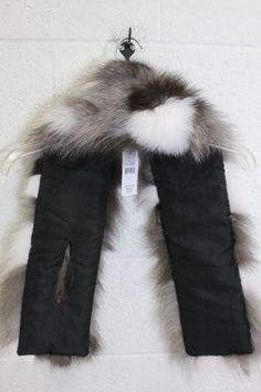 7f1ed899fac NWT Surell Fox Fur Wrap Shawl Scarf - shopgoodwill.com