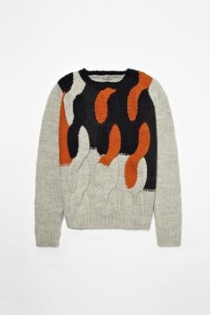 Chunky cable knit jumper COS