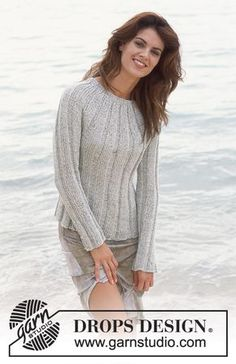 Free knitting patterns and crochet patterns by DROPS Design Knitting Patterns Free, Knit Patterns, Free Knitting, Free Pattern, Finger Knitting, Knitting Tutorials, Drops Design, Crochet Woman, Knit Crochet