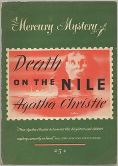 Death on the Nile by Agatha Christie, Golden Age British crime fiction, US paperback edition book cover