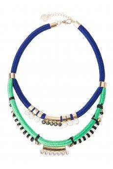 Enamel Stone and Rope Necklace from Colette Hayman R199,50