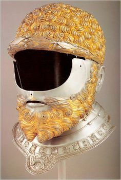 A helmet for Charles V, made by Filippo Negroli of Milan. Photo: Patrimonio Nacional, Madrid