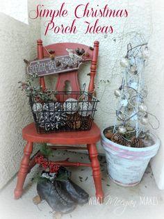 Simple Christmas Porch Ideas