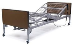 HOMECARE BEDS PCKG (Semi-Electric) with Innerspring Mattress/Full Chrome Rails