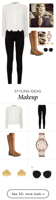 """school outfit #5267"" by elizabethlindsey6808 on Polyvore featuring 7 For All Mankind, Chay, Marc by Marc Jacobs, Poppy Finch and Una-Home"